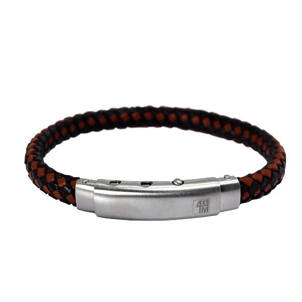 Bruin met Zwarte Lederen Bracelet van XS4M