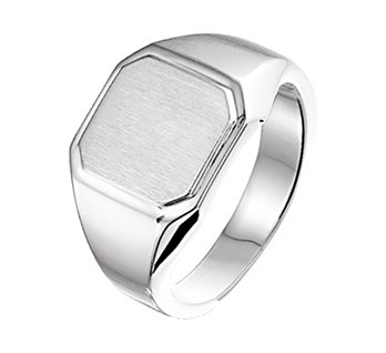 Graveer Ring van Gepolijst Zilver voor Jongens