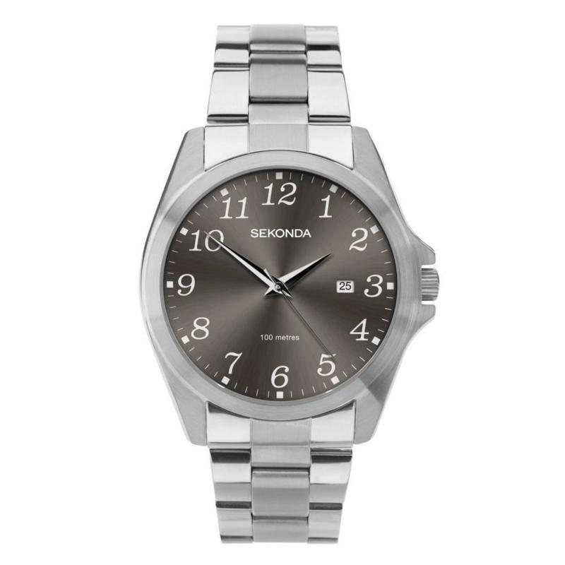 Sekonda Zilverkleurig Heren Horloge met Grijze Elementen