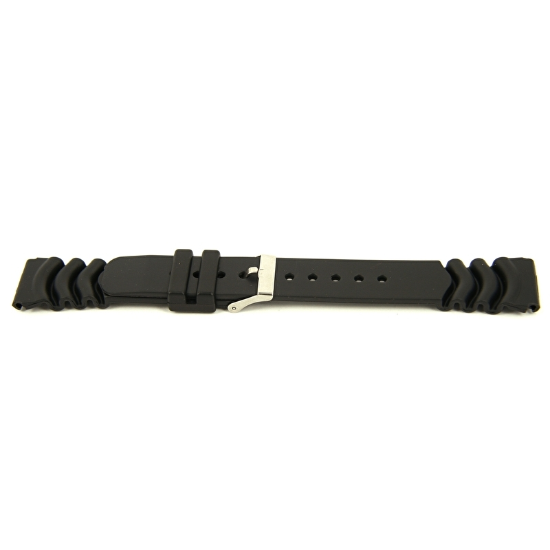 Horlogeband XH11 Plastic/PVC 362 Zwart 22 mm
