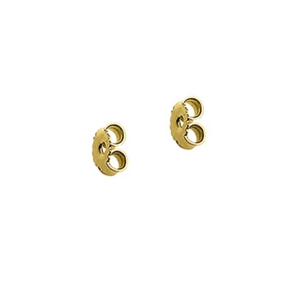 Gouden oorknop achterkantjes / Poussette 5 mm