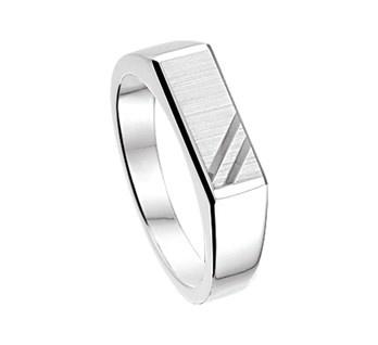 Zilveren Heren Ring / Maat 17,2