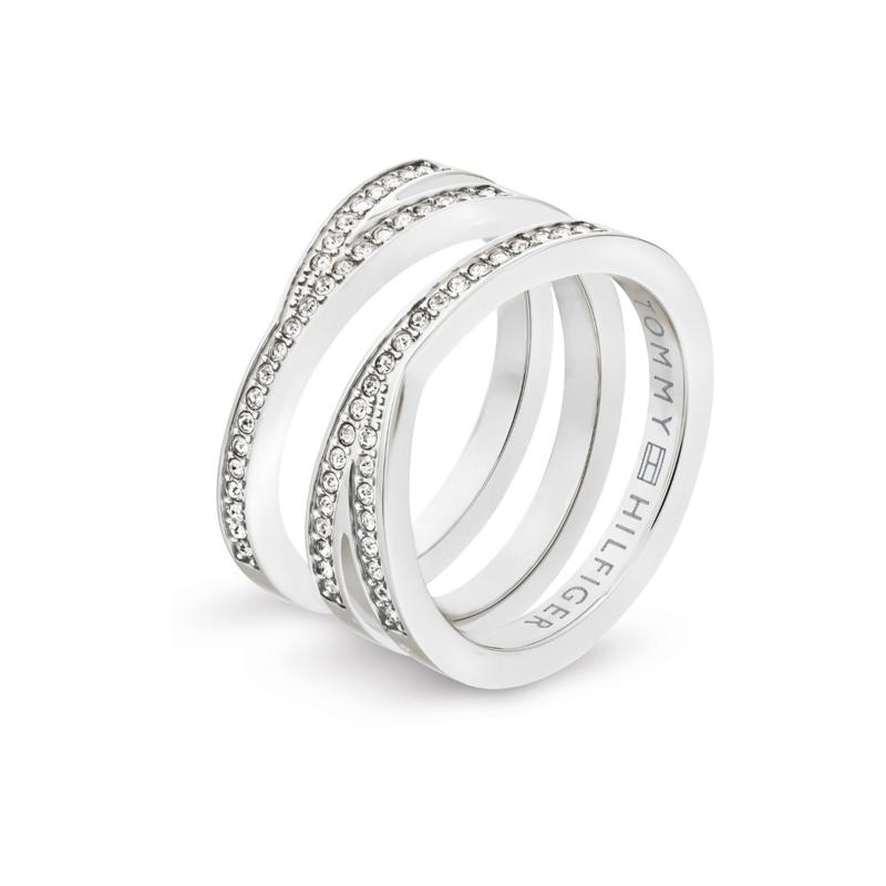 Edelstalen Dames Ring met Zirkonia's van Tommy Hilfiger TJ2701098C / 17,25mm
