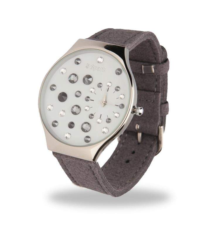 Ladybird Horloge met Brede Grijs Lederen Horlogeband van Spark