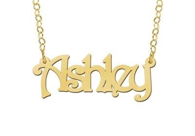Names4ever Ashley Stijl Gouden Naamketting