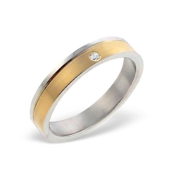 Goud-kleurige ring met zirkonia SKU6613
