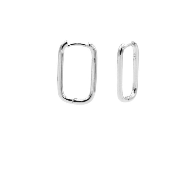 Zilveren Ovalen Oorringen 20MM | Karma Jewelry