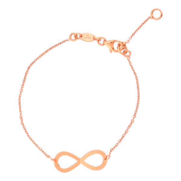 Super Stylish Roségoudkleurige Armband met Infinity Hanger