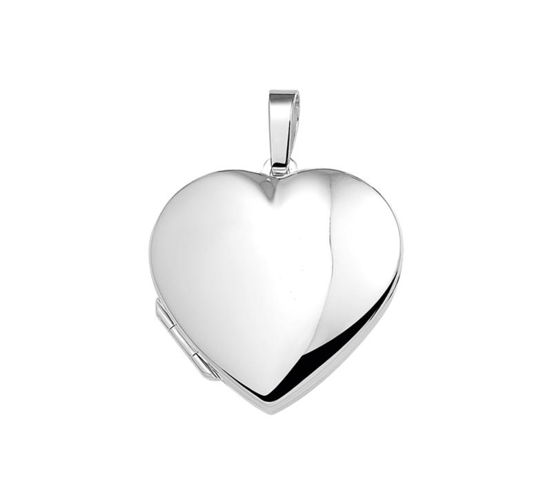 Hartvormig Medaillon van Gepolijst Zilver 10.16865
