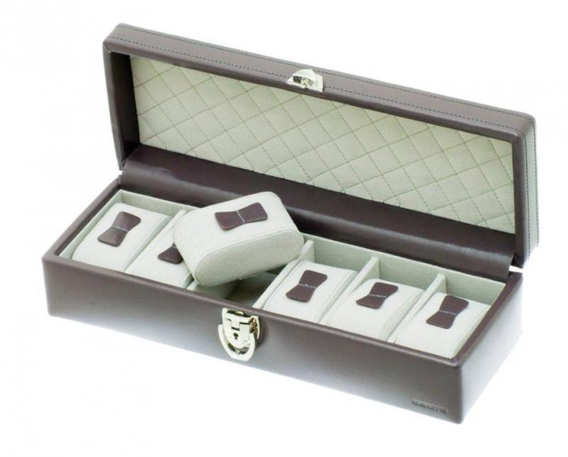 Horlogebox voor 6 horloges / Donkergrijs 37890634