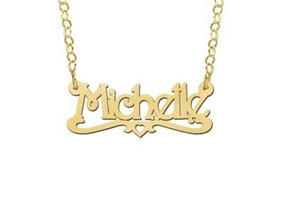 Names4ever Michelle Stijl Gouden Naamketting voor Kids GNK29