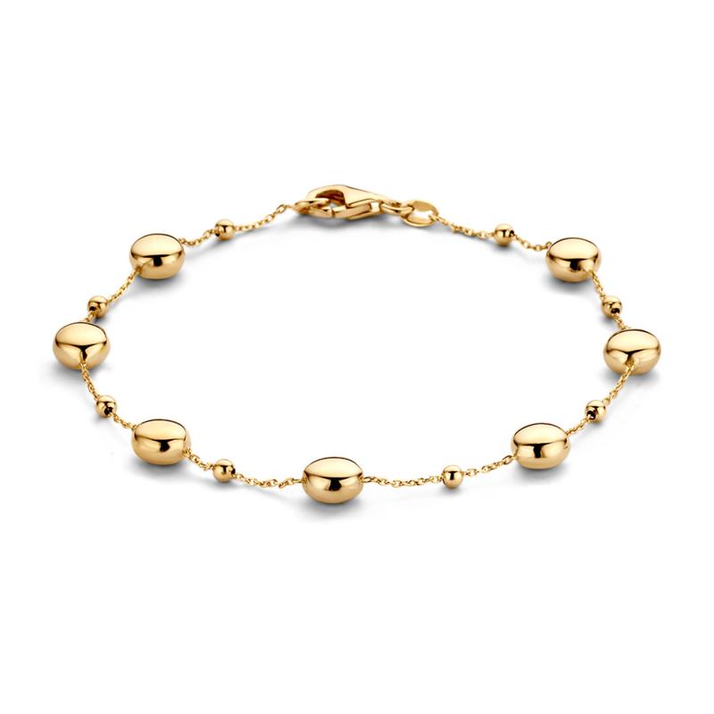 Excellent Jewelry Geelgouden Bolletjes Armband