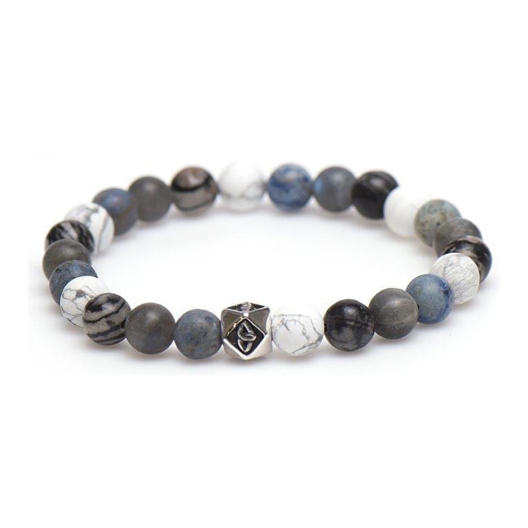 Karma Silver Bead Kralen Armband voor Heren