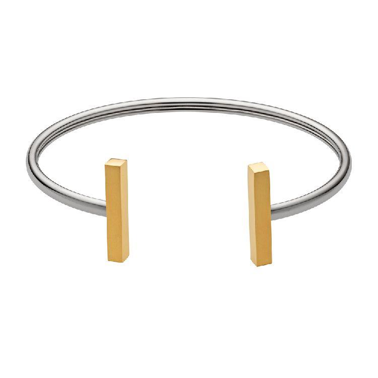 Zilverkleurige Armband met Goudkleurige Staafjes van M&M
