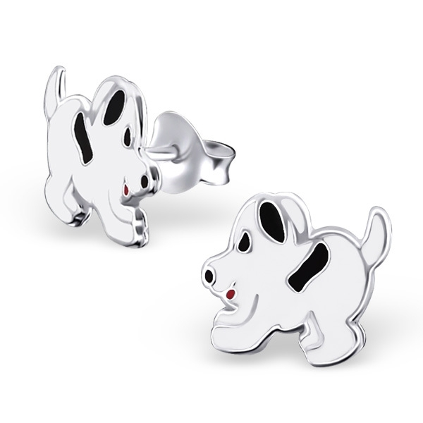 Zilveren Kinderoorbellen Hondje