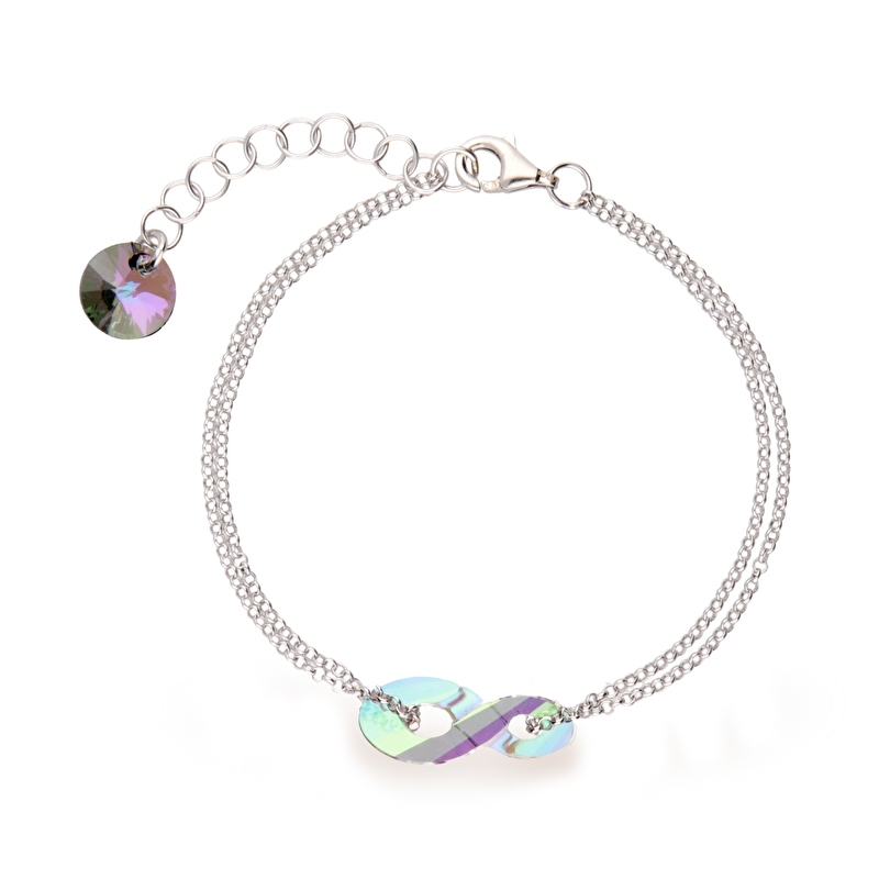 Infinity Paarse Swarovski Armband van Spark Jewelry