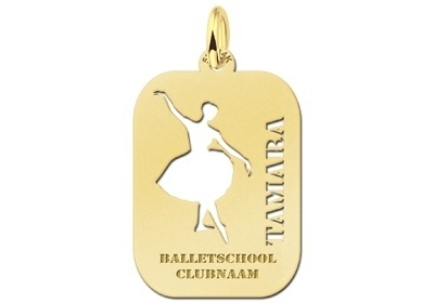 Names4ever Ballet Sporthanger in Goud GSB14