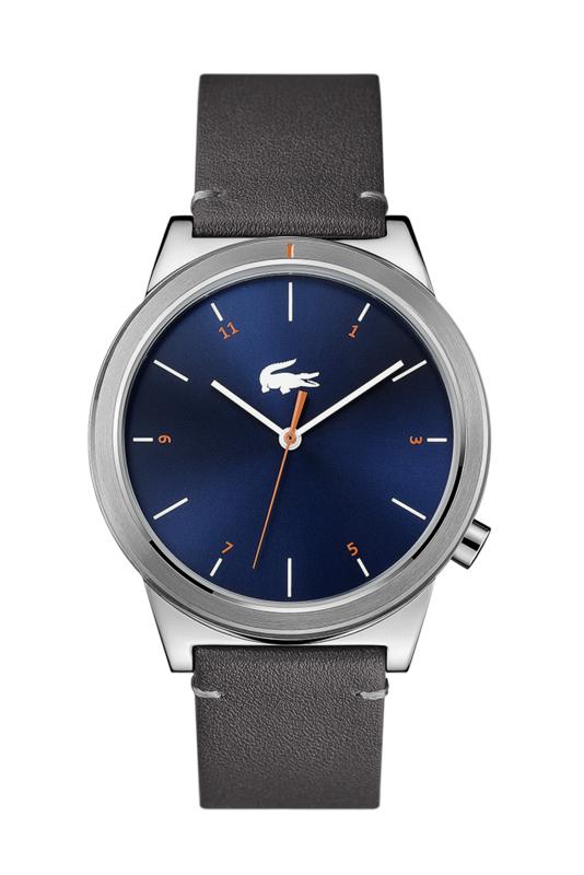 Lacoste Zilverkleurig Motion Heren Horloge met Grijze Horlogeband