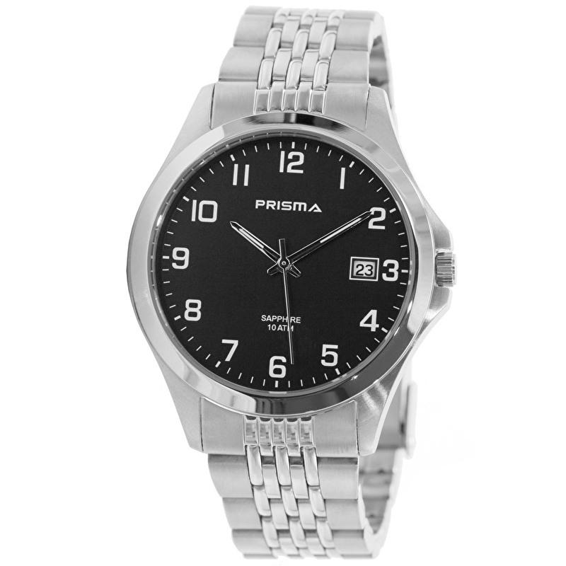 Prisma Horloge P.1795 Heren Stainless Steel Saffierglas