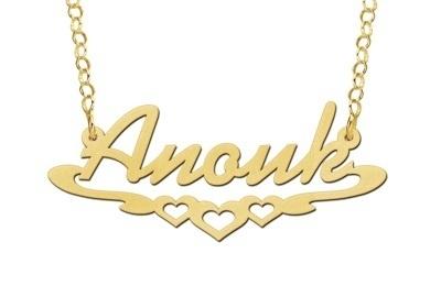 Names4ever Anouk Stijl Gouden Naamketting