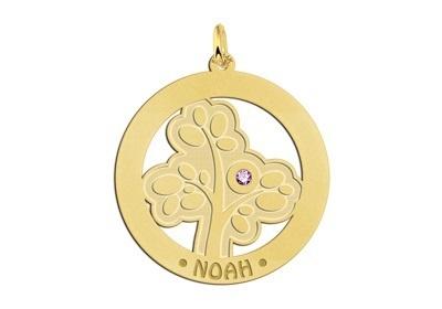 Gouden Stamboom met geboortesteen en naam Names4ever