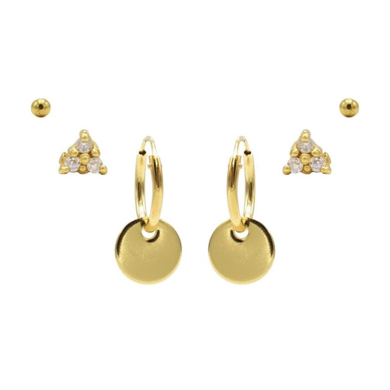 Karma Jewelry – Zesdelige Secret Sparkle Earparty Set - Gold