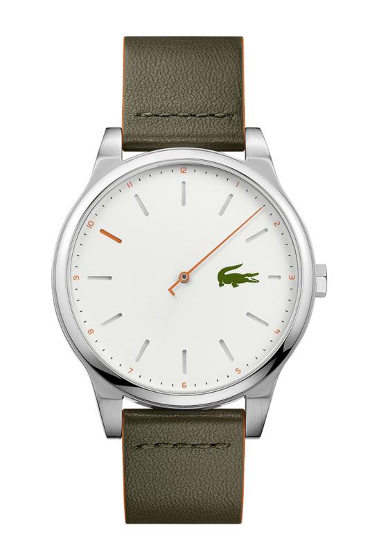 Lacoste Kyoto Heren Horloge met Groen Lederen Horlogeband
