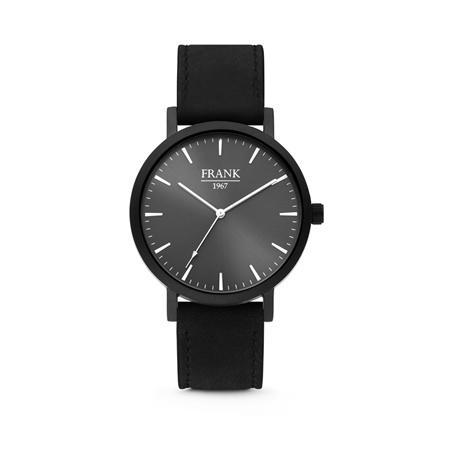 Zwart Horloge van Frank 1967 met Zwarte Wijzerplaat