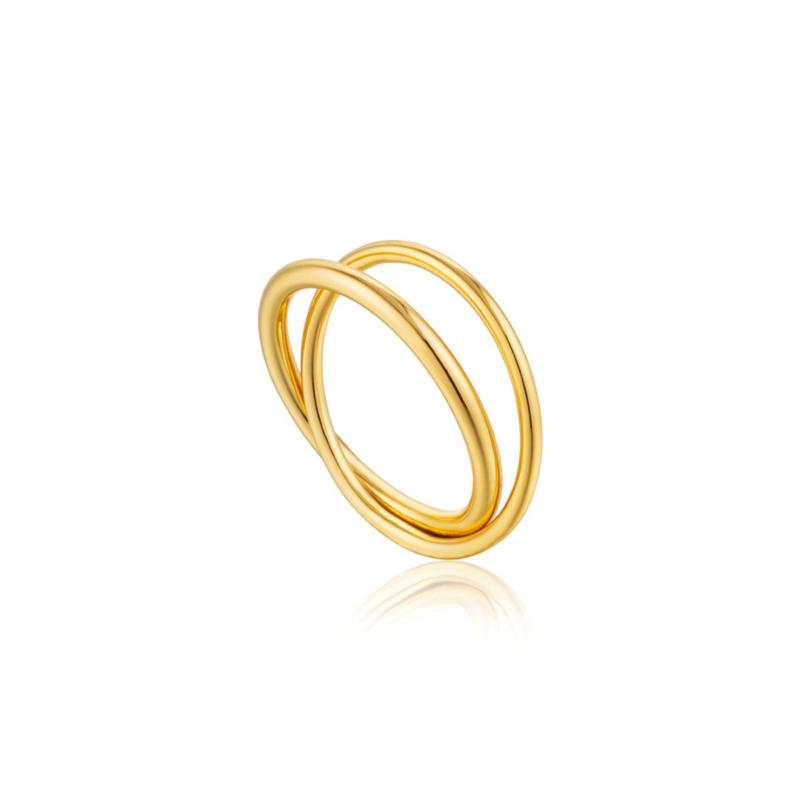 Goudkleurige Modern Double Wrap Ring van Ania Haie