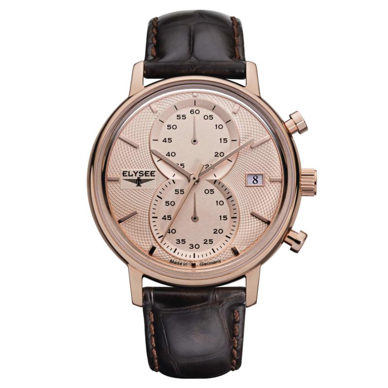 Elysee Minos Roségoudkleurig Heren Horloge