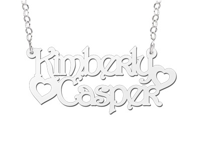 Names4ever Kimberly-Casper Stijl Zilveren Naamketting