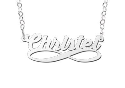 Names4ever Infinity Stijl Zilveren Naamketting