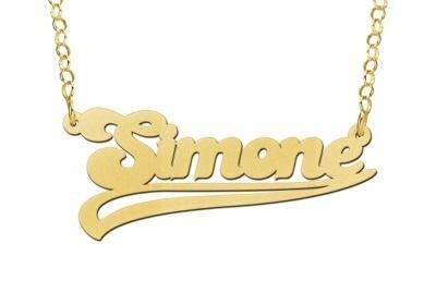 Names4ever Simone Stijl Gouden Naamketting