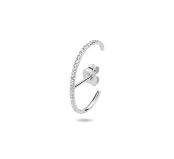 Witgouden Suspender Oorbellen Diamant 0,11 ct H SI