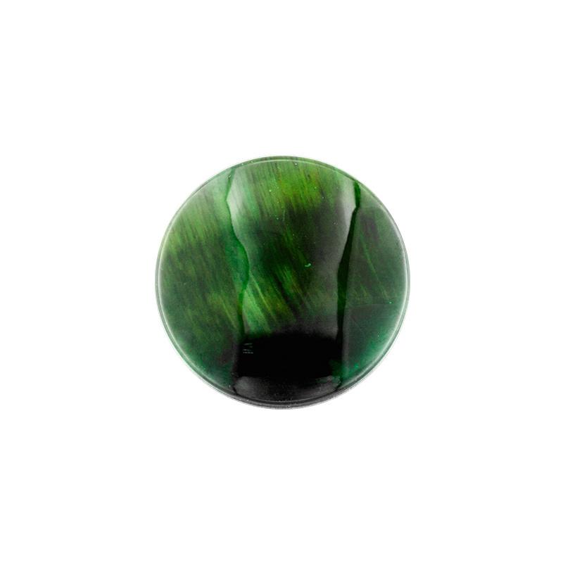 Groene Tiger Eye Edelsteen 24mm Munt van MY iMenso