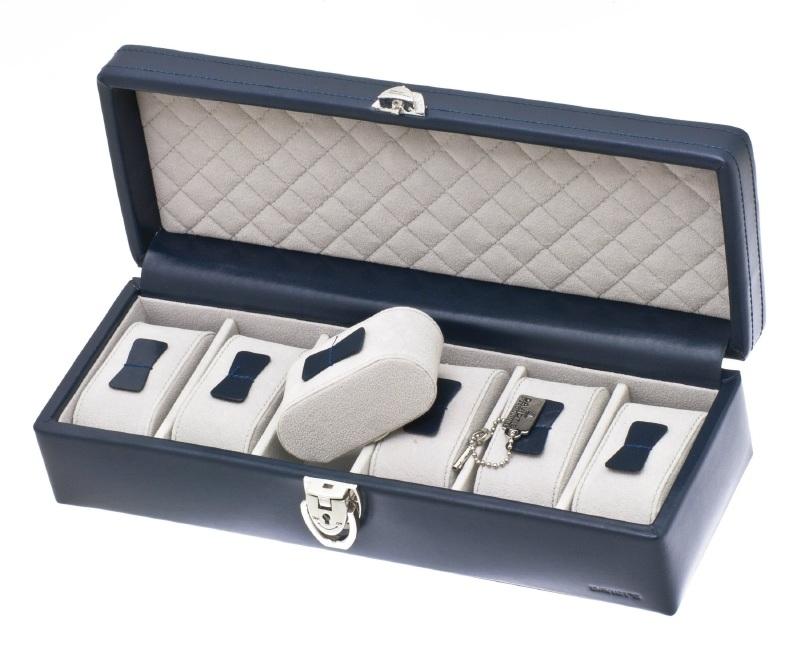 Horlogebox voor 6 horloges / Navy 37890603