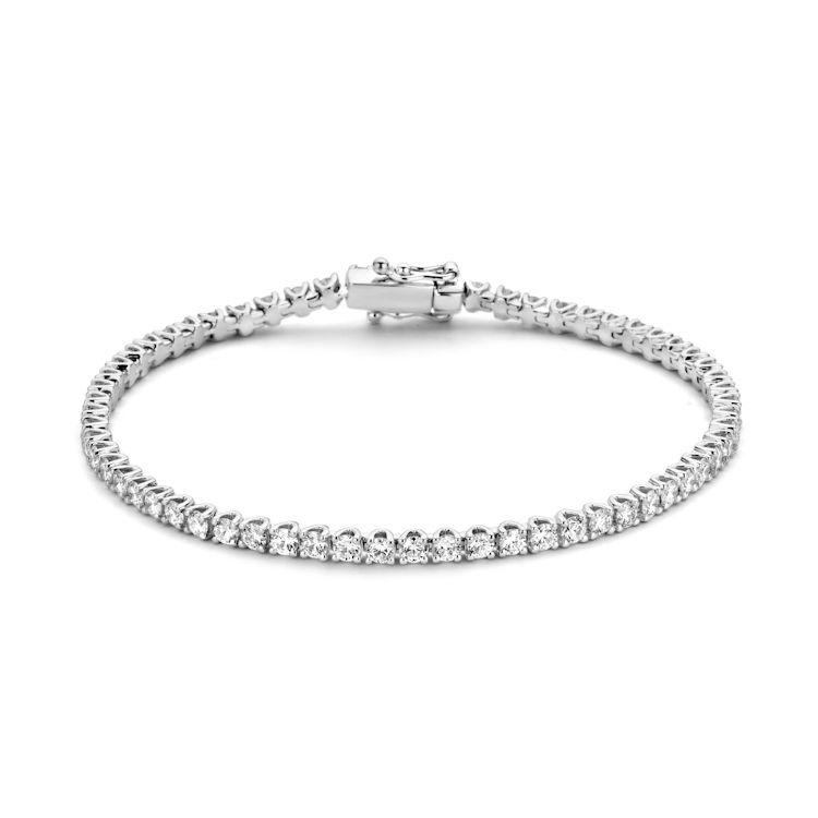 Excellent Jewelry Tennisarmband van Witgoud met 3,01 crt. Briljanten