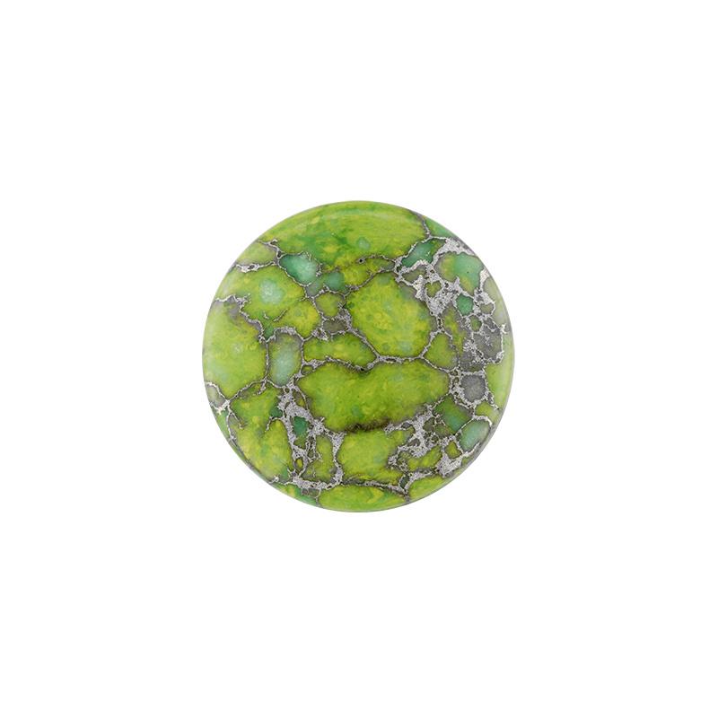 Groene Jasper Edelsteen 24mm Munt van MY iMenso