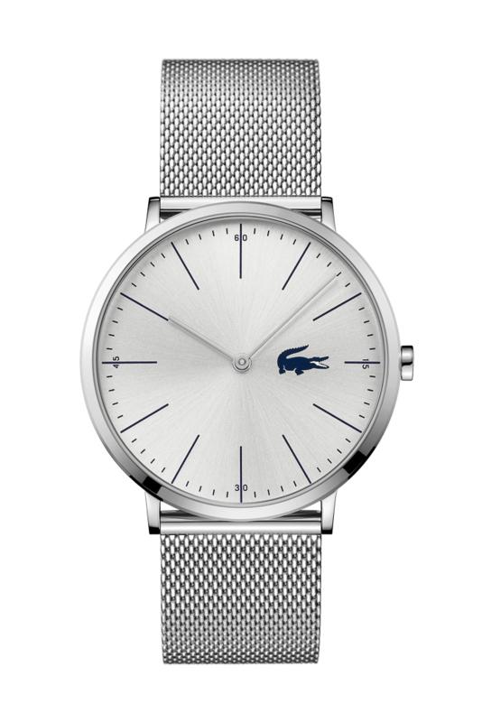 Lacoste Zilverkleurig Moon Heren Horloge met Zilverkleurige Wijzerplaat