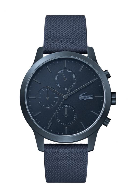 Lacoste Donkerblauw Heren Horloge met Lederen Horlogeband