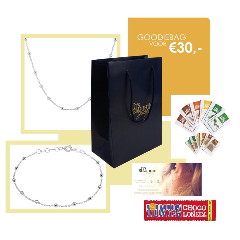 Goodiebag Tasje met Zilveren Sieraden IBJZB1