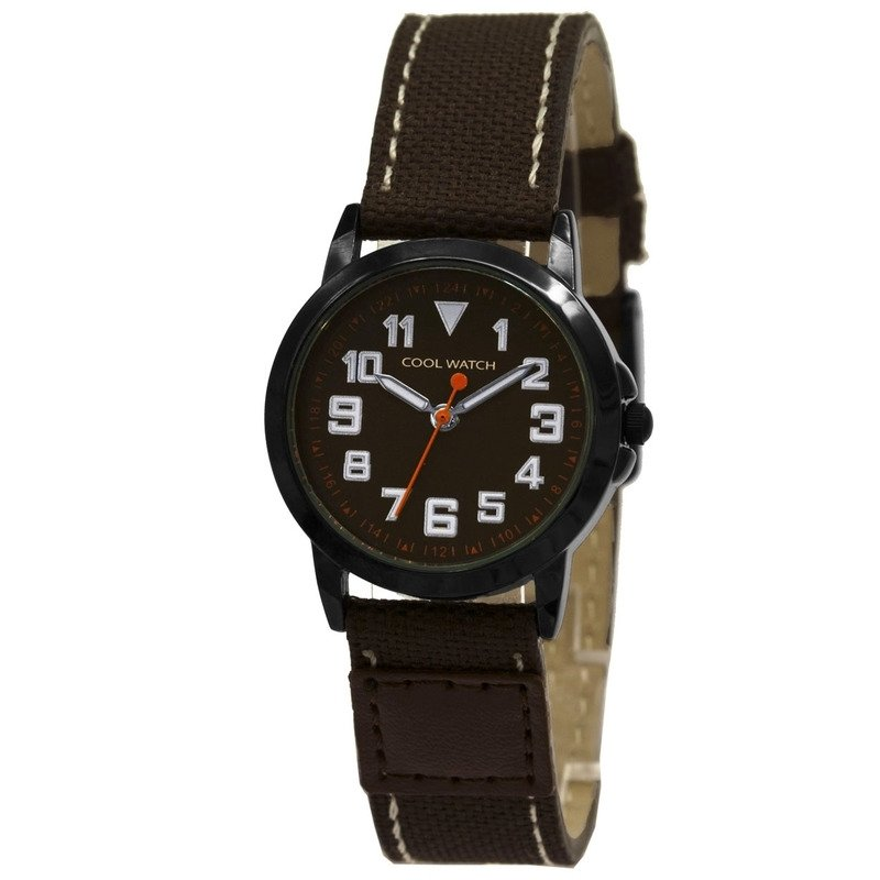 Cool Watch CW.247 Jongens Horloge Canvas Jort Brown