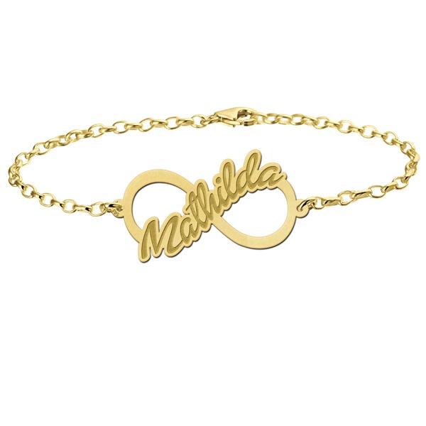 Mathilda Armband van Goud met Infinity Hanger > Names4ever