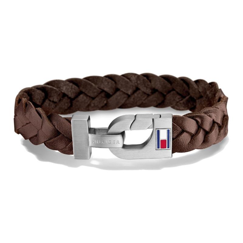 Gevlochten Bruin Lederen Heren Armband van Tommy Hilfiger TJ2700874