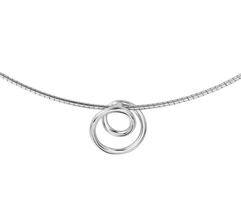 Zilveren Collier met Spiraal Kopstuk   SALE