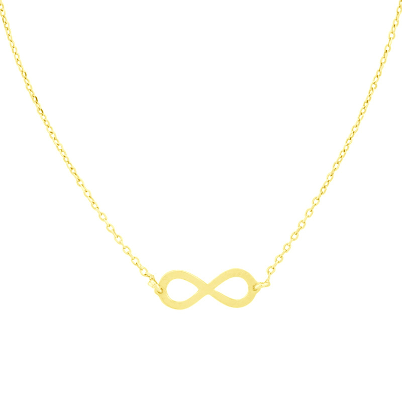 Super Stylish Goudkleurige Ketting met Infinity Hanger