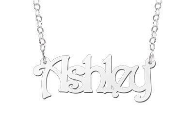 Names4ever Ashley Stijl Zilveren Naamketting
