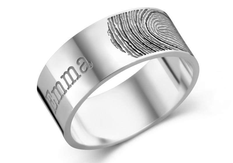 Ring met Vingerafdruk + Naam van Names4ever