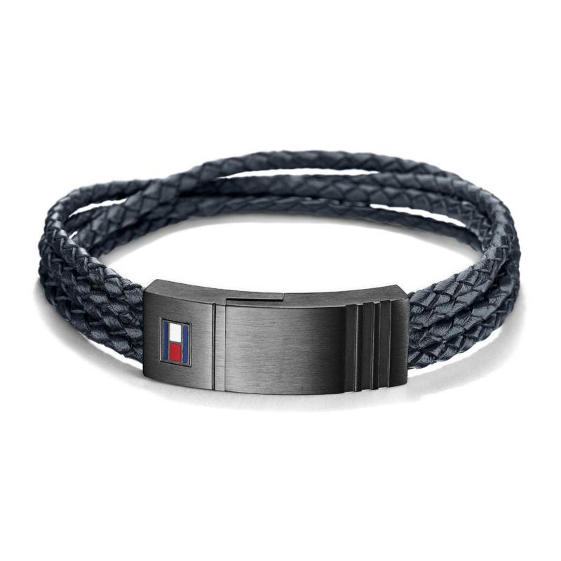 Intrigerende Armband van Gevlochten Leder van Tommy Hilfiger TJ2701007