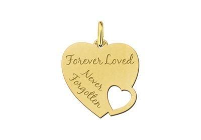 Names4ever Gouden Graveer Hanger met eigen tekst